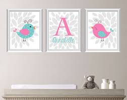 Nursery Bird Decor Baby Nursery Print Bird Nursery By Rhondavousdesigns2