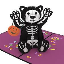 halloween bear pop up card lovepop