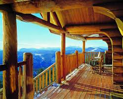 sitting pretty log home decks and porches