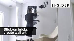 these stick on bricks let you create custom wall art youtube