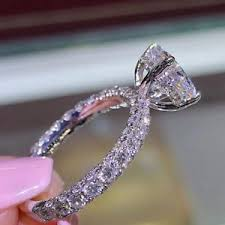 big crystal rings images Luxury big crystal cz bridal promise ring engagement wedding band jpg