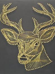 vintage stag string art wall hanging i would love to own this