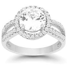 engagement rings silver images Sterling silver engagement rings for less jpg