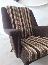 Chair Armchair Retro Vintage Old Design Brown Chair Armchair Vinterior