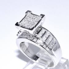 style wedding rings images 1cttw diamond wedding ring 3 in 1 style sterling jpg