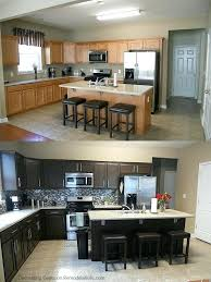 Kitchen Cabinet Refinishing Kits Kitchen Cabinet Refinishing Kit Or Before After Chocolate Brown