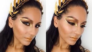 halloween leopard makeup tutorial tutorial golden goddess halloween makeup beautybymariela youtube