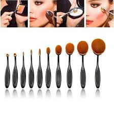 aliexpress new arrival10pc set pro oval makeup brush shaped eyebrow foundation oval toothbrush makeup beauty tools set from reliable brush shape