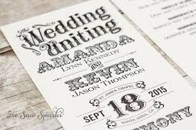 vintage wedding program time stands still collection
