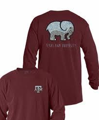 Long Sleeve Comfort Colors A U0026m Aggies Ornate Elephant Maroon Comfort Colors Long Sleeve T Shirt
