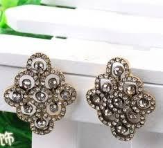big stud earrings diamond shape rhinestone paved big stud earrings wholesale