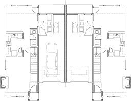 Floor Plan With Garage Duplex House Plans 3 Bedroom Townhouse Plans D 418