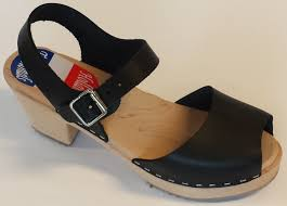 holland traditionals sandal clogs black