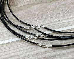necklace cord with clasp images Cord with clasp etsy jpg