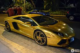gold chrome lamborghini lamborghini aventador lp700 4 roadster 31 october 2016 autogespot