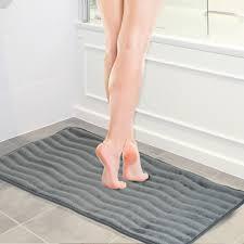 Extra Long Bathroom Rugs by Lavish Home Memory Foam Extra Long Bath Rug Mat 24