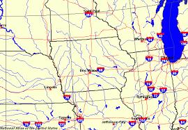 map of iowa towns iowa maps map of iowa