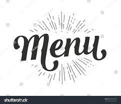 hand drawn custom lettering menu text stock vector 506570839