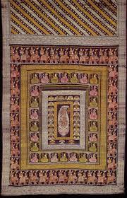 Hookah Rug Saris From 19th Century Bengal Shows Depict Women Smoking Hookah