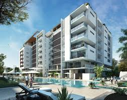 modern concept luxury apartment building green insight property