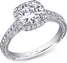 engagement rings diamond sylvie pave halo diamond engagement ring sy652