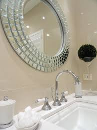 photos hgtv white bathroom vanity with glam round mirror loversiq