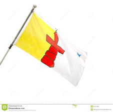Red White Flag With Blue Star Provincial Flag Of Nunavut Canada Stock Photo Image 31137032