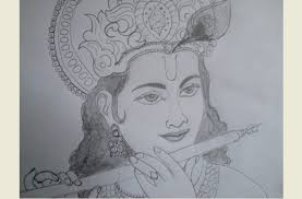 pictures lord krishna best pencil sketches drawing art gallery