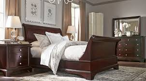 cherry sleigh bed whitmore cherry 6 pc king sleigh bedroom bedroom sets dark wood