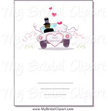 just married cards bridal clipart of a card with a just married wedding car by bnp
