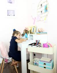 Parsons Mini Desk Pottery Barn by Diy Homework Space For Girls Alex The Real Housemom
