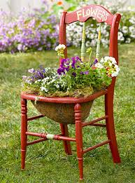 22 cool chair planter ideas for home and garden chair planter