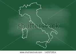 scribble sketch italy map on gridvector stock vector 252841732