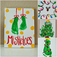 christmas kids stamped holiday card craft diy christmas ideas