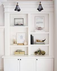 Classic Bookshelves - built in classic bookshelves with simple sparse styling bookcase