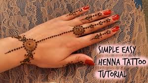 simple unique diy henna mehendi design for beginners youtube