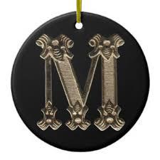 vintage letter m ornaments keepsake ornaments zazzle