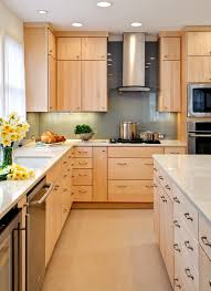 natural maple kitchen cabinets kitchen decoration