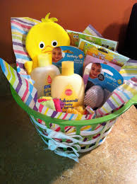 inexpensive baby shower gift dollar tree basket with ribbon