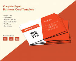 creative computer repair business card template free premium