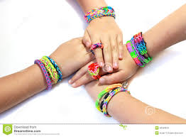 rubber bands rings images Elastic and colorful rainbow loom bracelet on hands stock image jpg