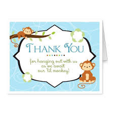 baby shower thank you cards folded thank you notes jungle safari