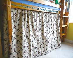 how to make curtains to make bunk bed curtains