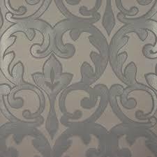 designer selection salon damask wallpaper pewter grey mink