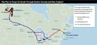 New England On The Map by Is Exxonmobil Trying To Pipe Tar Sands Oil Through New England