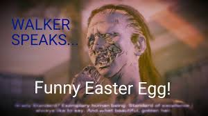 talking easter eggs walkers can talk easter egg the walking dead a new frontier
