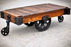 industrial cart coffee table wood bed u0026 shower vintage