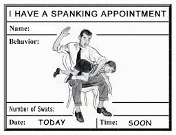 Spanking Meme - spanking appointment reminder card i m printing these out and