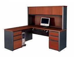 Desk Hutch Bookcase L Shaped Office Desk With Hutch And Bookcase Comfortable L
