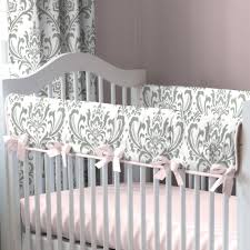Gray Baby Crib Bedding Pink And Gray Elephants Crib Bedding Carousel Designs